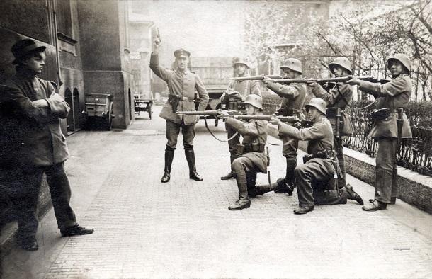 Расстрел коммуниста в Мюнхене (бавария)