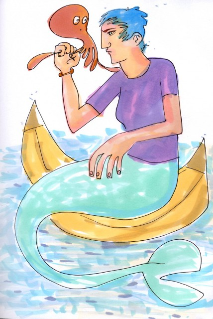 mermaids wear t-shirts