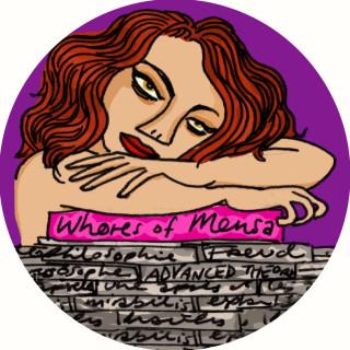 Whores of Mensa badge designs