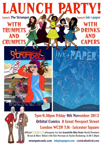 Launch Poster Strumpet and ink + paper