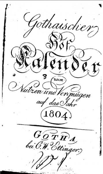 Готский придв кален 1804 облож