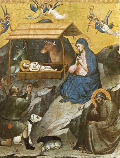 Мариотто ди Нардо Рождество Пределла ок 1385 Муз Ватикана