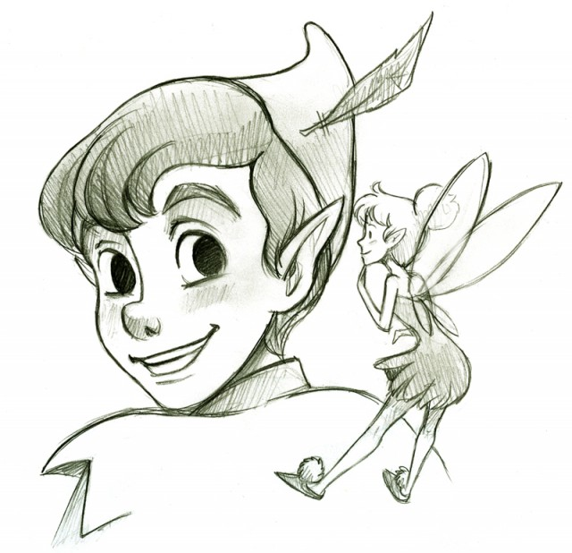 I was wonder if you wouldnt mind drawing peter pan ...