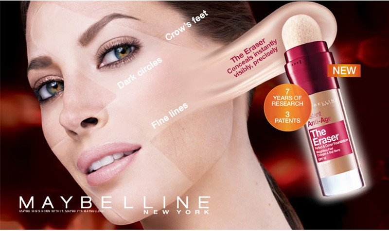 Кристи Тарлингтон в рекламе Maybelline