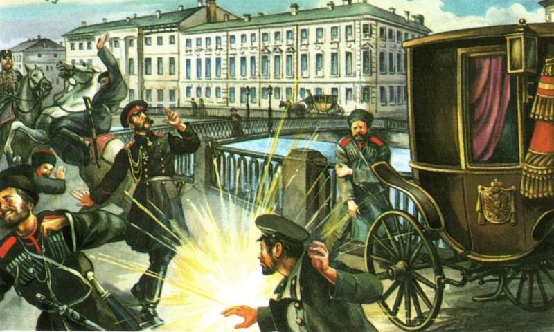 В лето 1881: Убийство Александра II.
