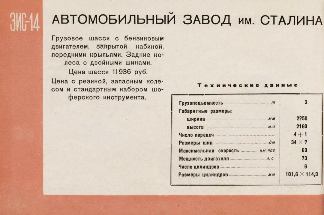 Каталог советских автомобилей, 1939 год.
