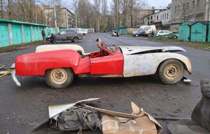 Кабриолет «Ленинград» ручной сборки, 1950-е годы и сегодня.