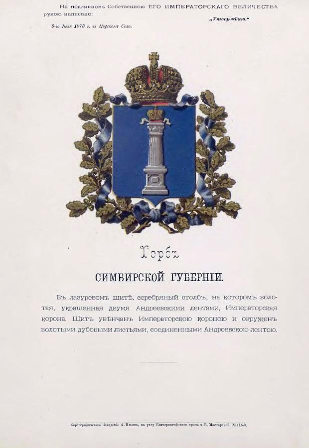 Генеральная карта Симбирской губернии, 1822 год.