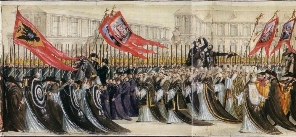 Траурная процессия перезахоронения праха российского императора Петра III 2