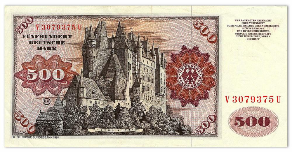 Наглядные свидетельства германского экономического чуда: купюры Бундесбанка.