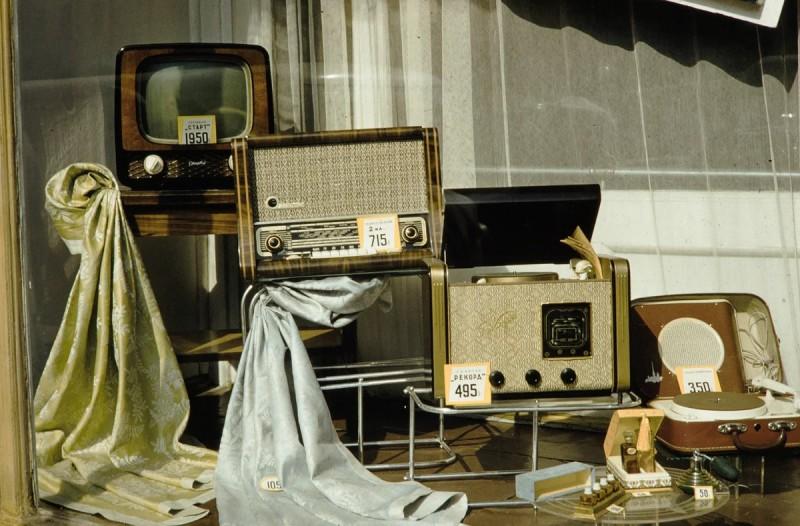Цены и ассортимент магазина радиотоваров, 1959 год.