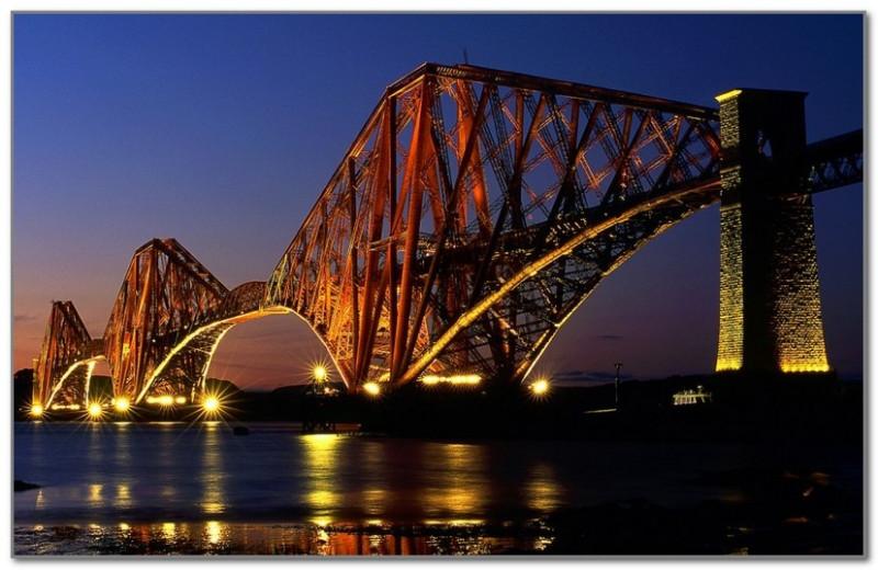 Мост Форт-Бридж в Шотландии