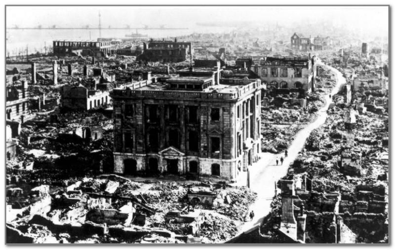 Вид Токио после землетрясения 1923 года