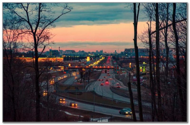 Вид на Пулковское шоссе