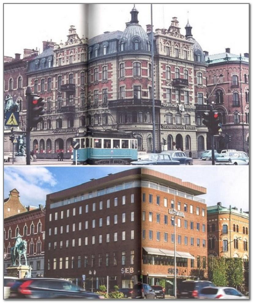 Величественный дворец на Спорторгете в Хельсингборге превратился в бетонную коробку