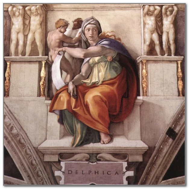 Дельфийская сивилла работы Микеланджело