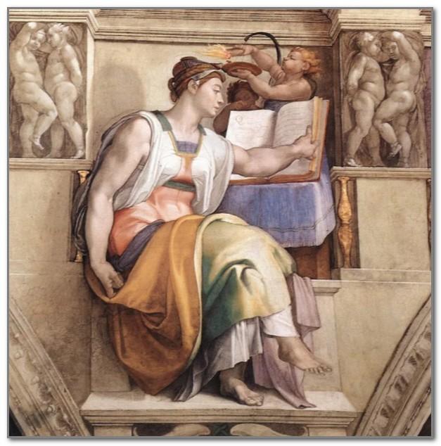 Эретрейская сивилла работы Микеланджело