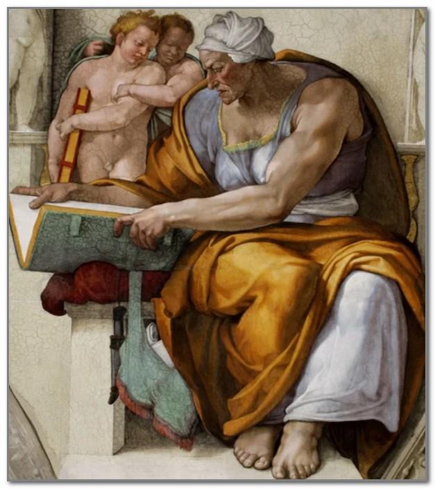 Кумская сивилла работы Микеланджело