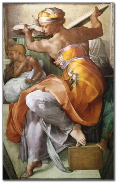 Ливийская сивилла работы Микеланджело