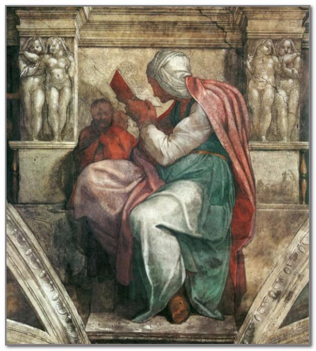 Персидская сивилла работы Микеланджело