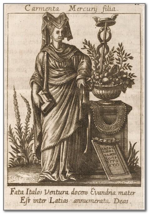 Богиня Кармента. Средневековая иллюстрация