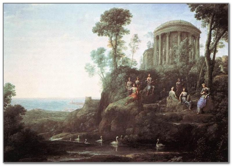 Клод Лоррен. Аполлон и музы на горе Геликон