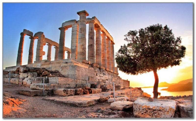 Типичный пейзаж Аттики