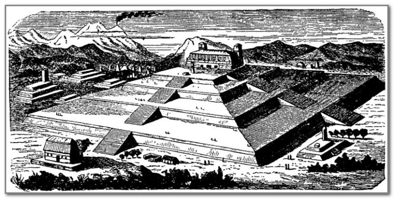 Пирамида Чолулы. Реконструкция.