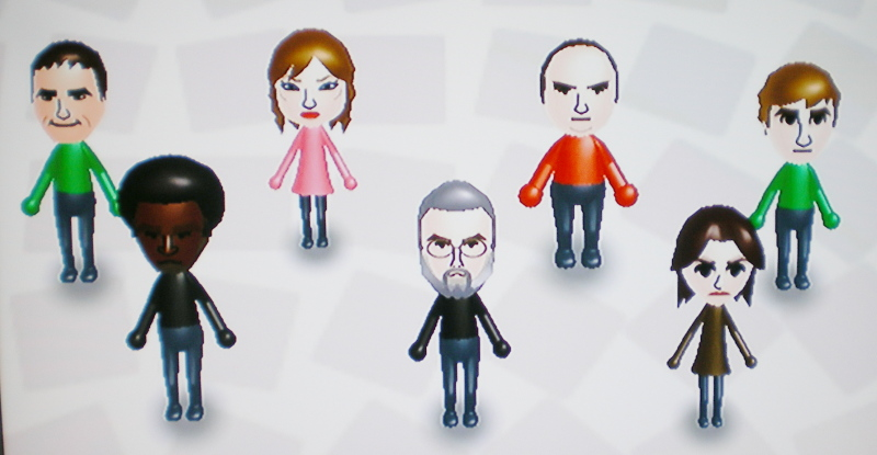 Some Miis that Keir and I made