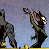 The Batman Strikes #24: Catwoman sails gleefully away, leaving Batman cuffed to a railing
