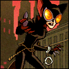 The Batman Strikes #33: Catwoman beckons with one hand, handcuffs still dangling from the other wrist