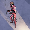 Roy stands around being chained to the ceiling like it ain't nothing