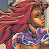 Starfire looks a little bored by this fight