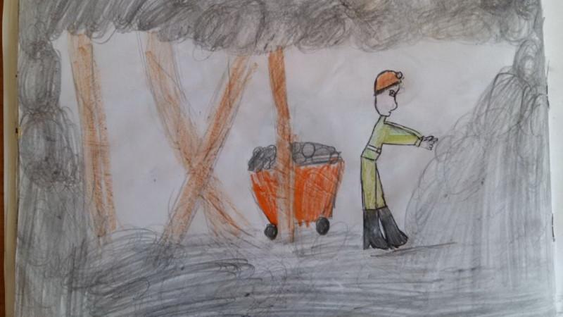 День шахтера рисунок детей, лист
