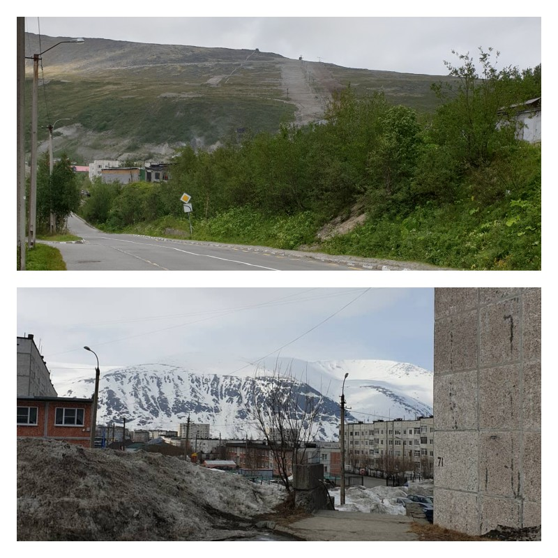 Трасса Бигвуда летом и зимой )). Немного с разных точек ).