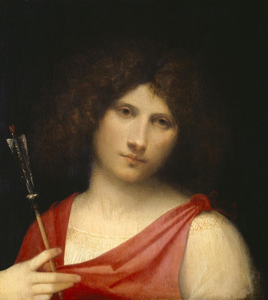 Giorgione - Ragazzo con freccia. 1505. Kunsthistorisches Museum, Vienna, Austria