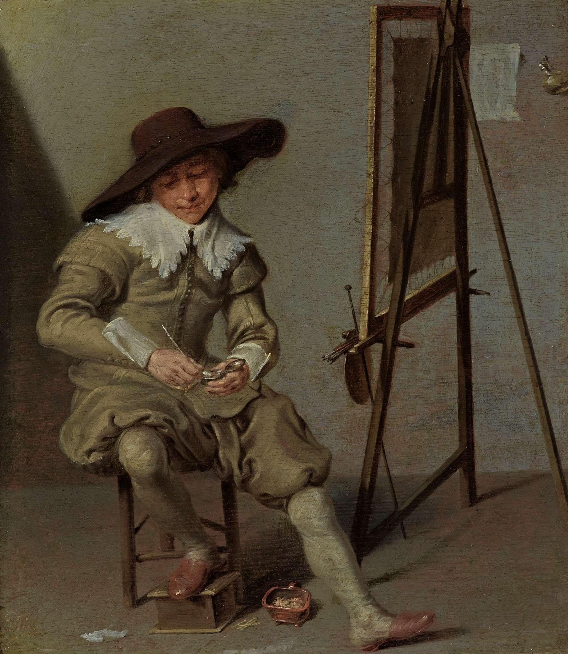 Jacob van Velsen (1597-1656) - A Painter at His Easel