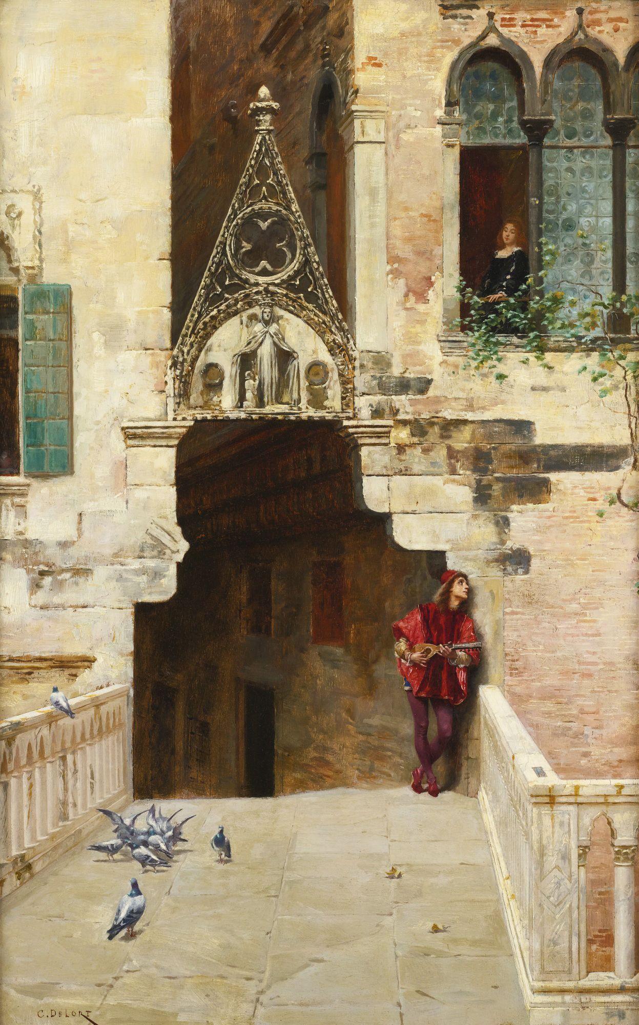 Charles-Édouard-Edmond Delort ROMEO AND JULIET (ACT II, SCENE II CAPULET'S GARDEN)