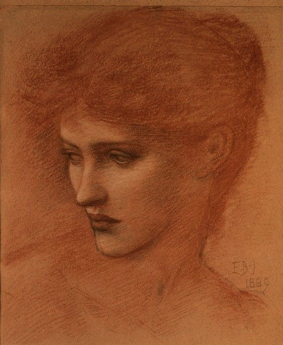 Study of a Female Head, 1889, Edward Burne-Jones