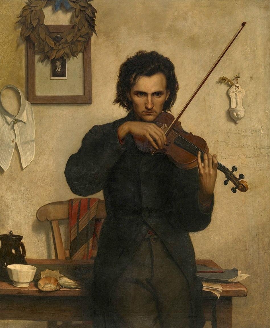 Peut-être by Alexandre Struys oil on canvas, 109.0 x 133.0 cm - The Royal Museum of Fine Arts (Antwerp, Belgium)