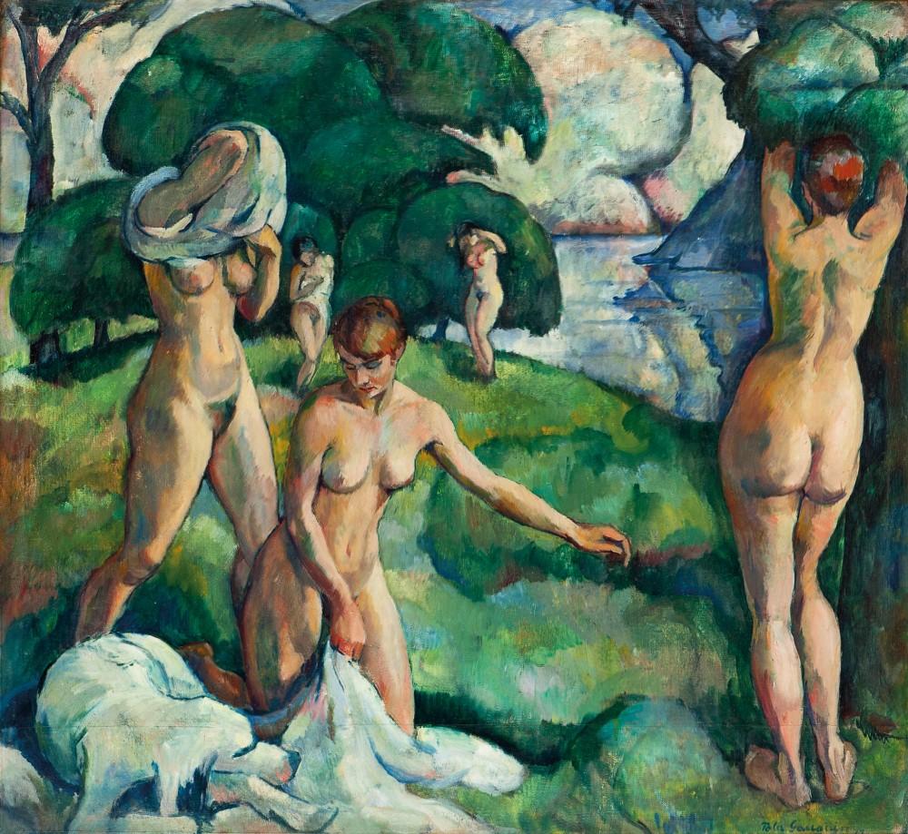 Pola Gauguin - Composition [1917]. [Grev Wedels Plass Auksjoner, Oslo - Oil on canvas, 101 x 110 cm]