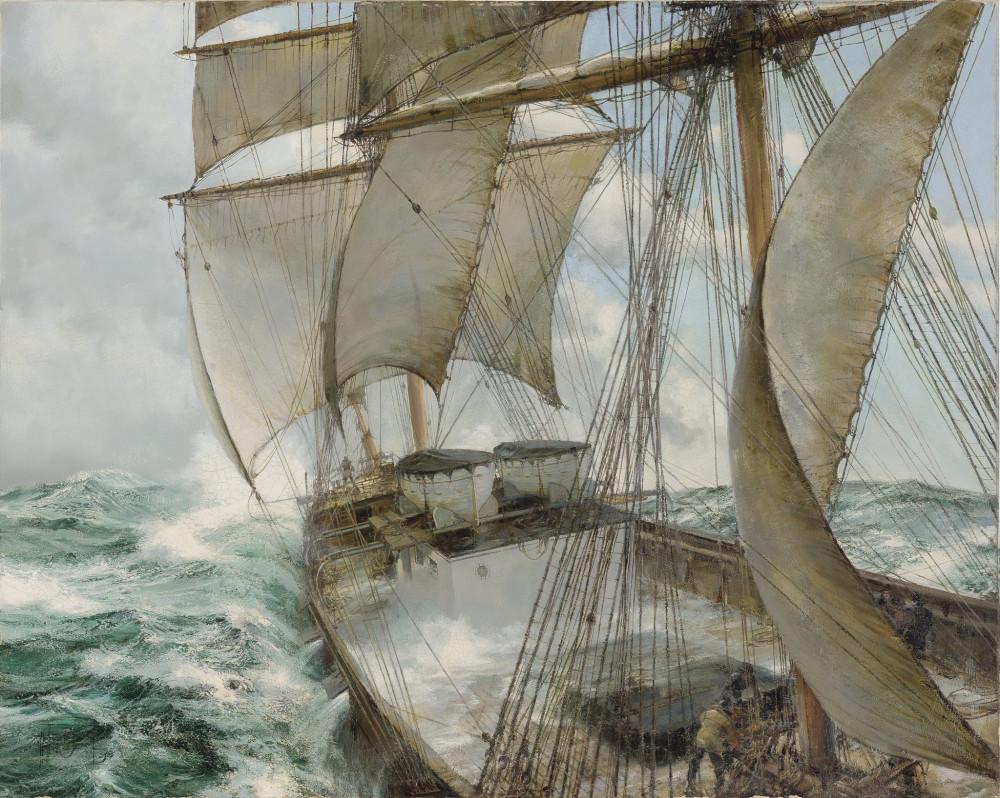 Montague Dawson  - Decks Awash