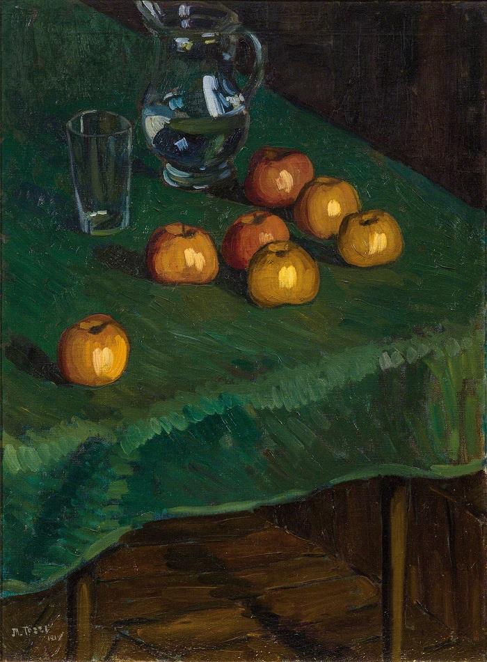 Apples on a green cloth, 1919 ( Источник: dorotheum.com )