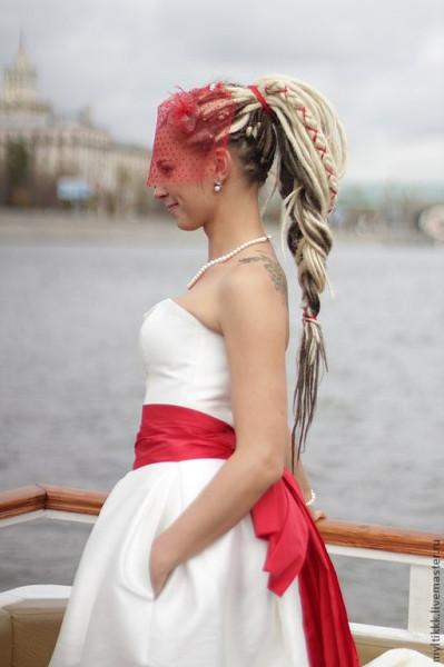 свадебные прически из дред