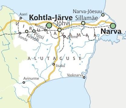 Ida-Virumaa-kaart