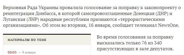 ДНР и ЛНР не террористы