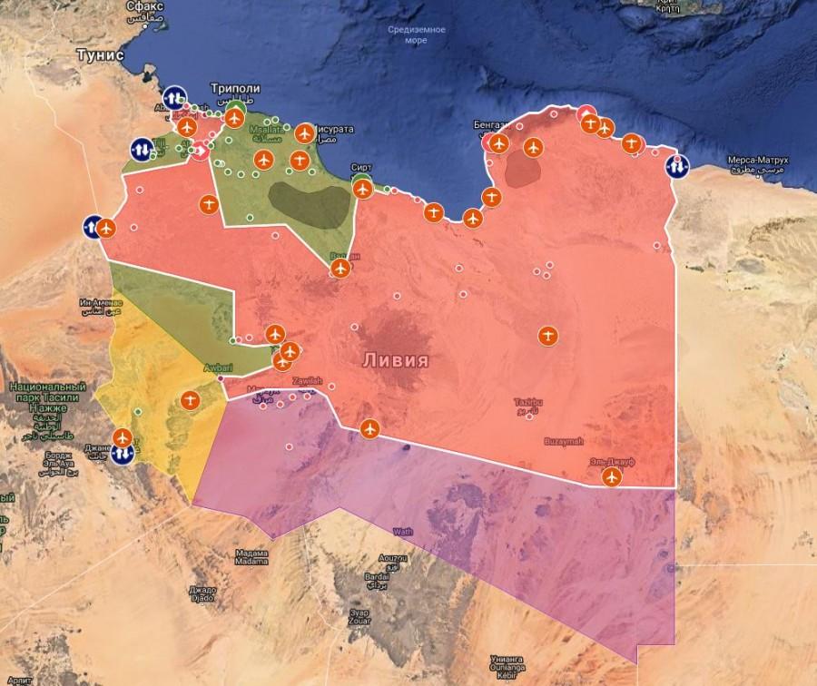 Интерактивная карта Ливии