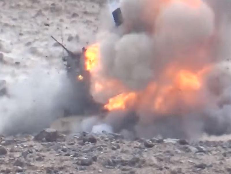 Уничтожение саудовской техники в Наджране