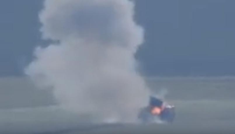 Поражение грузовика ВСУ из ПТУРа