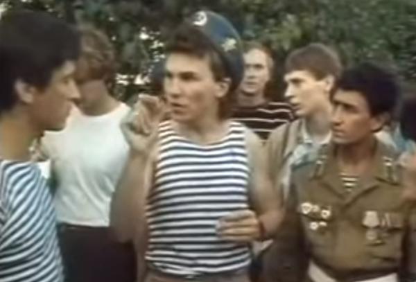 Протест десантников в Ленинграде. 1988 год
